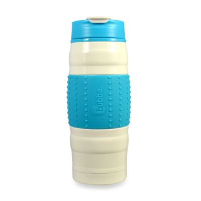 bubba 16-Ounce Stainless Steel Vacuum Insulated HERO Fresh Bottle in White/Aqua
