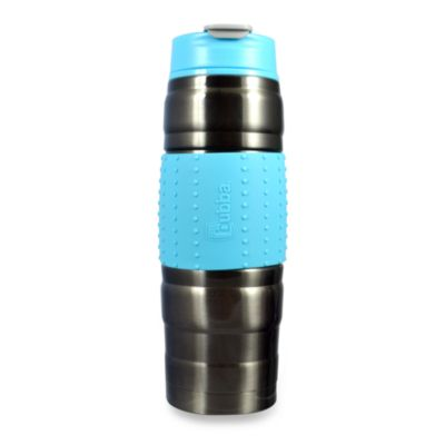 bubba 16-Ounce Stainless Steel Vacuum Insulated HERO Fresh Bottle in Dark Gray/Aqua
