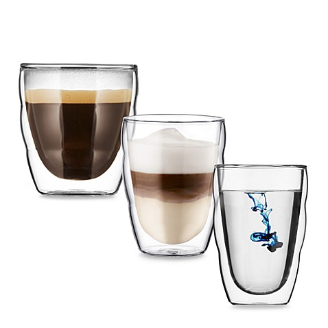 Bodum® Pilatus Stackable Double Wall Glasses (Sets of 2)