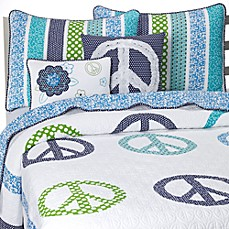 Preppy Peace Quilt Set
