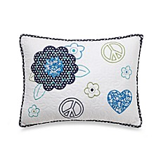 Preppy Peace Oblong Toss Pillow