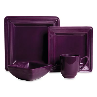Laurie Gates Dekko 4-Piece Dinner Set in Plum