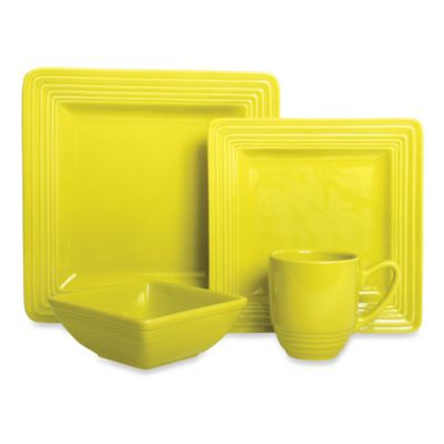 Laurie Gates Dekko 4-Piece Dinnerware Set-InChartreuse