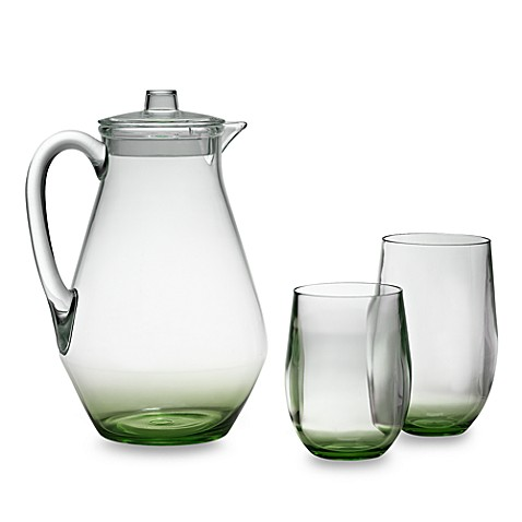Apollo Acrylic Drinkware with Green Tinted Base