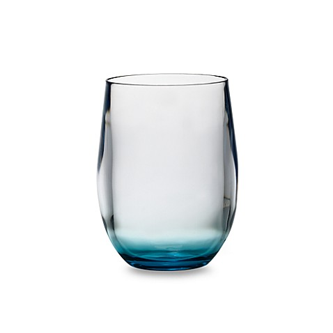 Apollo Acrylic 16-Ounce Double Old Fashioned with Blue Tinted Base