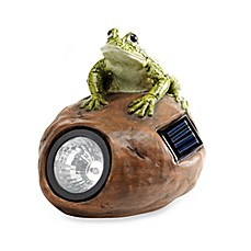 Solar LED Frog Garden Rock Spotlight