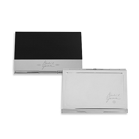 Mark & James by Badgley Mischka The Modernist Stainless Steel Card Cases