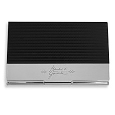 Mark & James by Badgley Mischka The Modernist Stainless Steel and Carbon Fiber Card Case