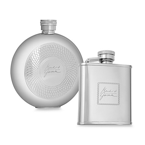 Mark & James by Badgley Mischka The Modernist Stainless Steel Flasks