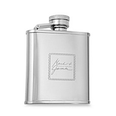 Mark & James by Badgley Mischka The Modernist Stainless Steel 2.5 oz. Hip Flask