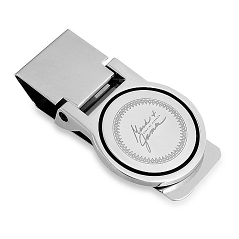 Mark & James by Badgley Mischka The Modernist Round Stainless Steel Polished Money Clip