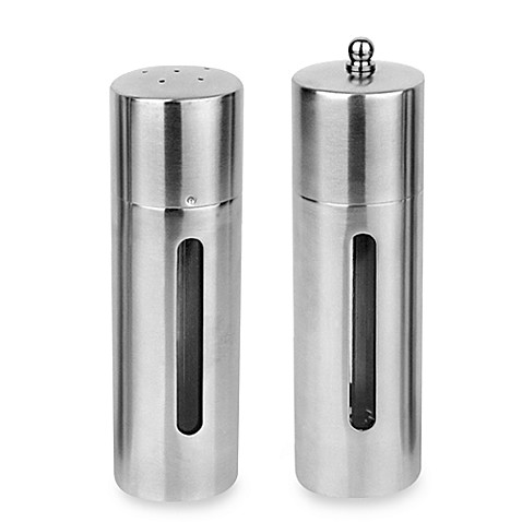 BergHOFF® 2-Piece Round Salt Shaker and Pepper Mill Set