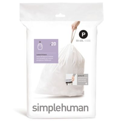 simplehuman® Code P 20-Pack 14.5-16-Gallon Custom Fit Liners