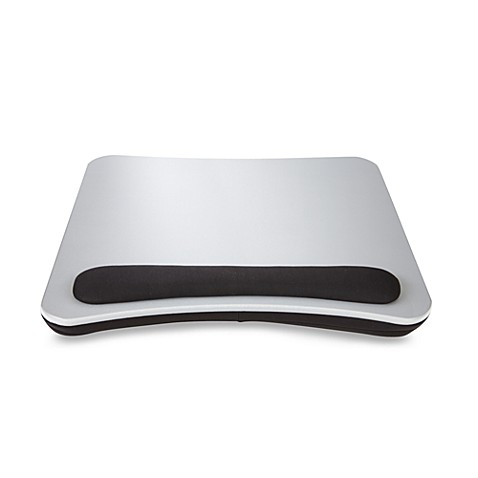 Portable Lap Desk with Wrist Pad in Silver/Black