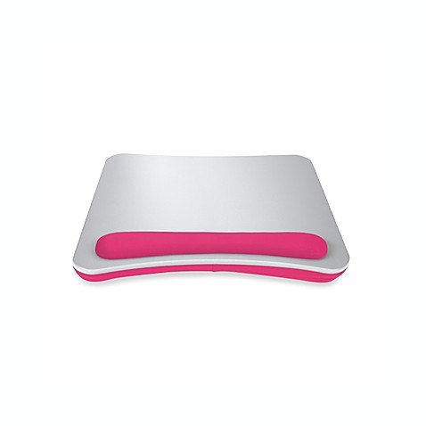 Buy Portable Lap Desk With Wrist Pad In Silver Pink From