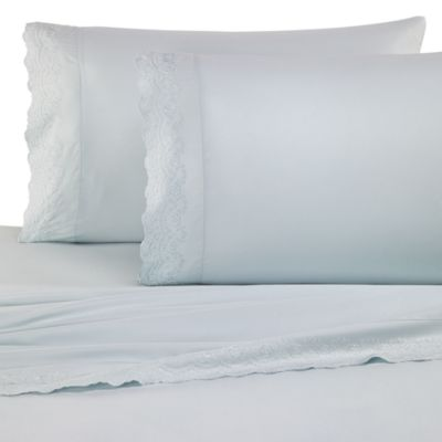 Microfiber Lace Full Sheet Set in Sage