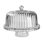 Crystal Clear Alexandria 12-Inch Reversible Domed Cake Plate