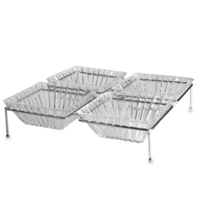 Crystal Clear Alexandria 5-Piece Buffet Server