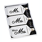 Mr. and Mrs. White Luggage Tags (Set of 3)