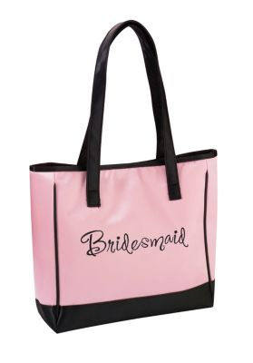 Lillian Rose™ Bridesmaid Pink Tote Bag