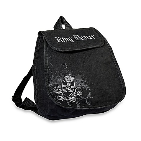 Lillian Rose™ Black Ring Bearer Backpack