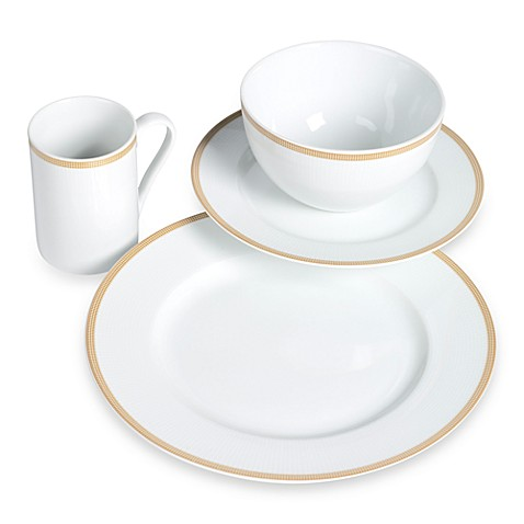 TABLETOPS gallery® 16-Piece Empress Dinnerware Set - Gold Band