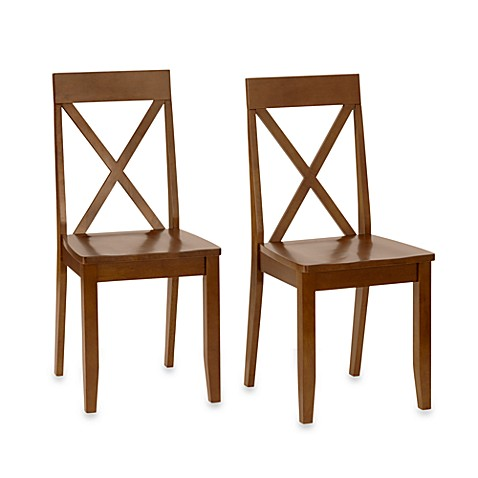 Cross Back Dining Chairs - Set of 2