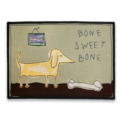 Bone Sweet Bone 19-Inch x 27-Inch Multi Pet Mat
