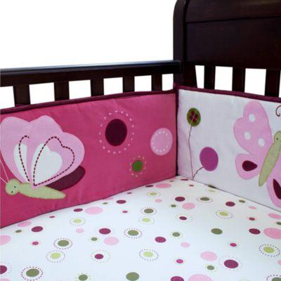 Lambs & Ivy® Raspberry Swirl Bumper