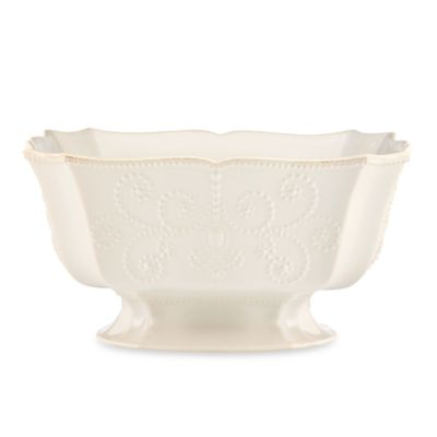 Lenox® French Perle Footed Centerpiece Bowl in White