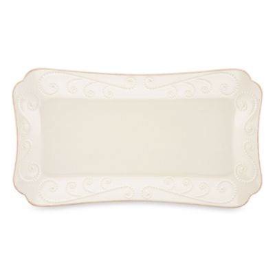 Lenox® French Perle™ Hors D'oeuvre Tray in White