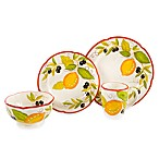 Lemon Chatta 16-Piece Dinnerware Set