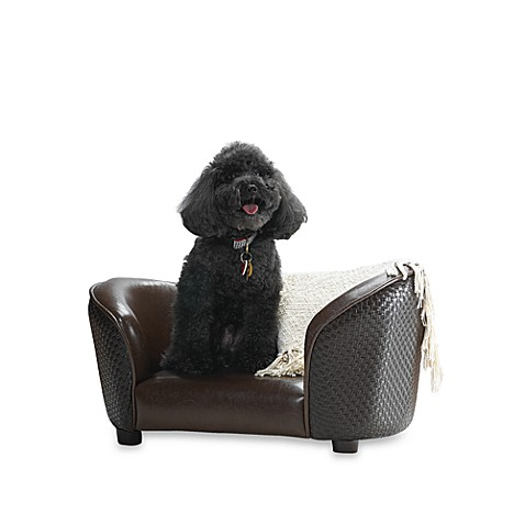 Snuggle Basket Weave Sofa Dog Bed