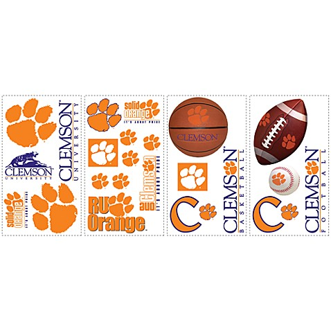 Clemson University Peel & Stick Wall Decals