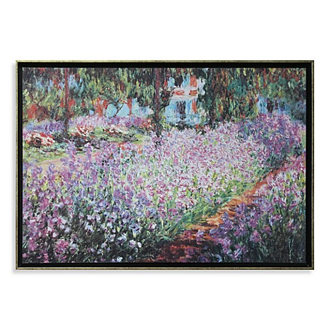 The Artist's Garden in Giverny by Claude Monet Wall Art