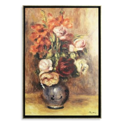 Vase of Gladiolas and Roses by Pierre-Auguste Renoir Wall Art