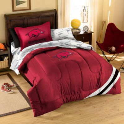 University of Arkansas Collegiate Twin Complete Bed Ensemble