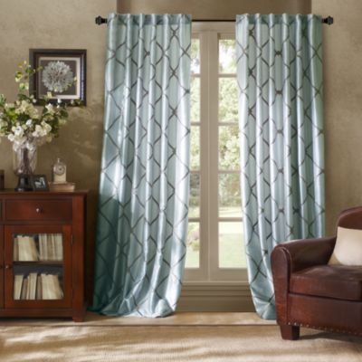 Bombay™ Garrison 108-Inch Rod Pocket/Back Tab Window Curtain Panel in Blue