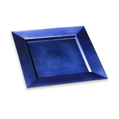 Square 13-Inch Charger Plate in Blue