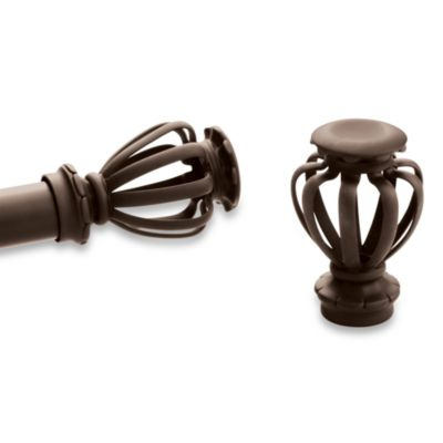 Kirsch Pair of Bird Cage Finials Caramel