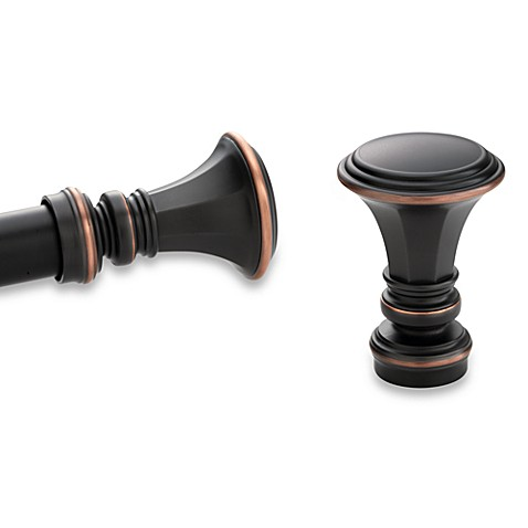 Kirsch Pair of Oil Rubbed Bronze Trumpet Finials