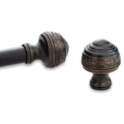 Kirsch Pair of Oil Rubbed Bronze Round Vase Finials