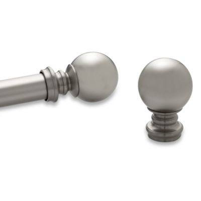 Kirsch Pair of Satin Nickel Ball Finials