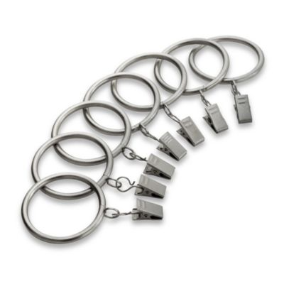 Kirsch Antique Silver Clip Rings
