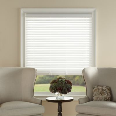 Kirsch White Faux Wood Blind