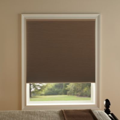 Kirsch Honeycomb Room Darkening 31-Inch W x 72-Inch L Window Shade in Toffee