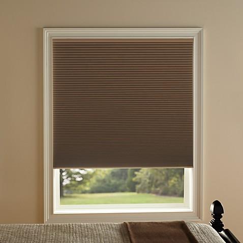 kirsch honeycomb room darkening window shades in toffee