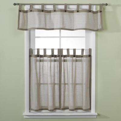 Eco Leno 24-Inch Window Curtain Tier Pair in Sage