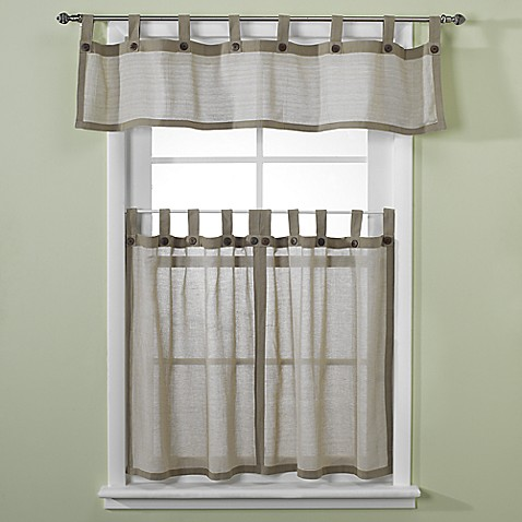 buy curtain rod for valance and curtains from bed bath beyond