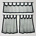 Eco Leno Charcoal Window Curtain Tier Pair